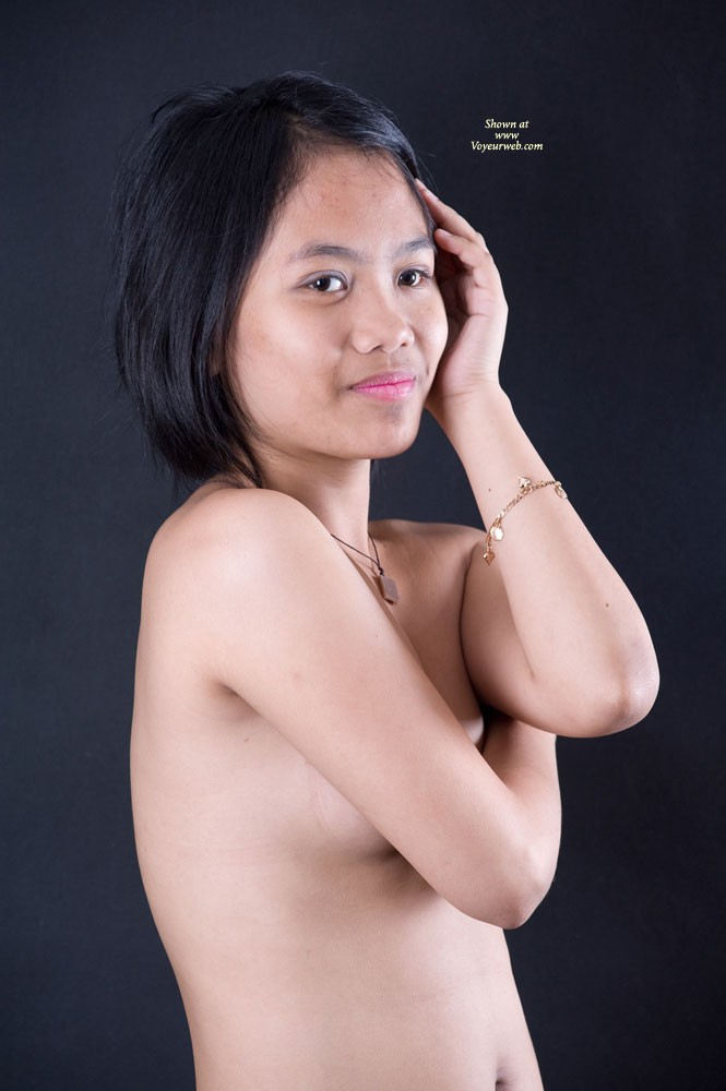 Pic #1 - More From Her 1st Shoot - Asian Girl, Brunette Hair, Hairy Bush, Small Tits , Here Are More From Her First Shoot.  And For Those Who Asked, Yes She Is A Virgin.