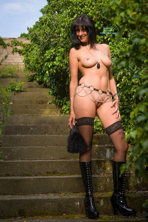 Pic #2 Stair - Brunette, Lingerie, Outdoors