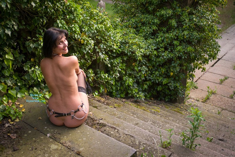 Pic #5 Stair - Brunette, Lingerie, Outdoors