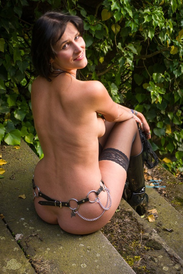 Pic #6 Stair - Brunette, Lingerie, Outdoors