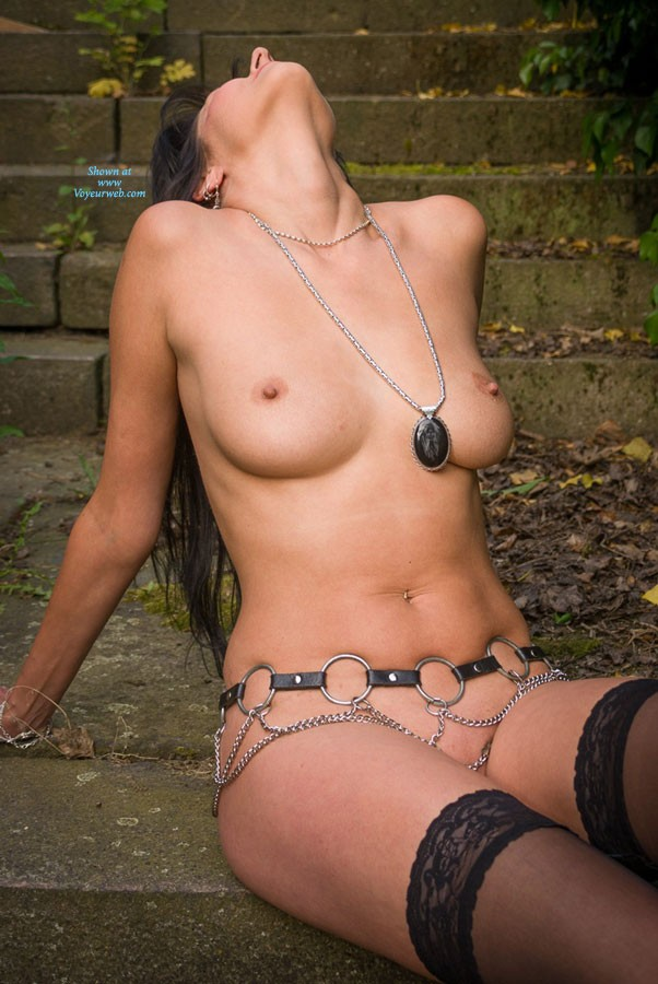 Pic #9 Stair - Brunette, Lingerie, Outdoors