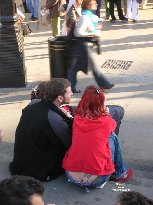 Pic #1 - London Ladies Upskirt/thong Volume 5 , More London Ladies In Thongs And Upskirts, I Hope Your Enjoying My Photos As Much As I Enjoyed Taking Them.