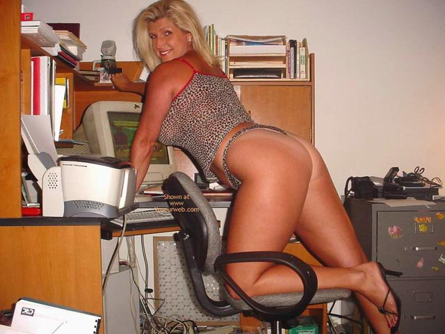 Pic #1 - Hot Legs In Her Office