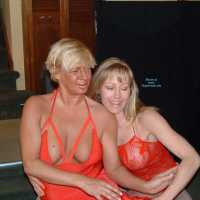 2 in Red - Lingerie, Big Tits, Girl On Girl