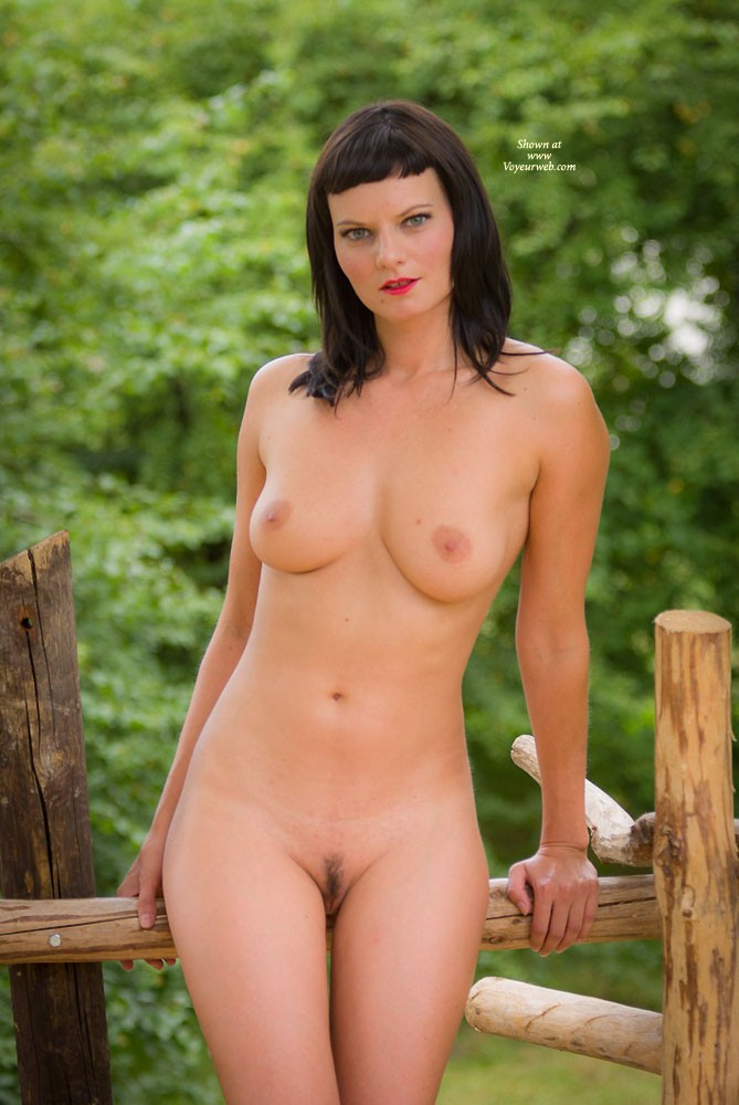 Tree House - Brunette Hair, Nude In Public, Nude Outdoors , This Was Katie This Summer In A Park On A Tree House