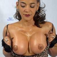 Leopard Print Dress I - Brunette, Big Tits