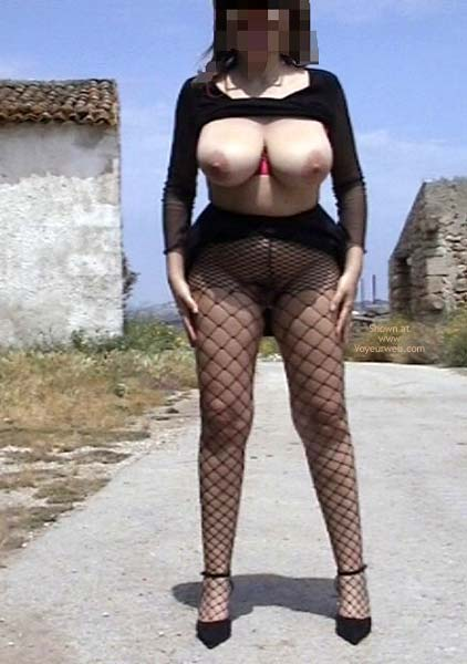 Pic #3 - Bi Busty Wife Out Door