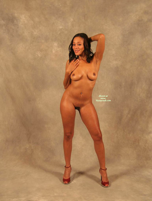 Pic #1 - Black Milf - Black Hair, Hairy Bush, Heels, Long Hair, Milf, Naked Girl, Nude Amateur , Full Frontal Studio Nude In High Heels, Red High Heels, Full Frontal, Curved Boobs, Pierced Belly, Pierced Belly Button, Ebony Skin, Medium-sized Breasts