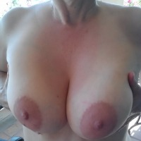 Very large tits of my wife - Kate