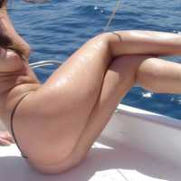 Vacation in Spain (Boat) - Bikini Voyeur, Redhead, Wet