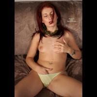 Hand Down Panties - Dark Hair, Long Hair, Red Hair, Topless