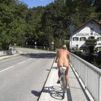 Nude Bike Riding - Exhibitionist, Nude In Public, Naked Girl, Nude Amateur