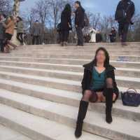 Nadia Flashing Her Pussy in Paris - Exposed In Public, Flashing, Nude In Public