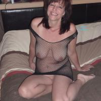 Foxy Fishnet - Mature, Redhead, See Through