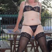 Posing in Lingerie - Lingerie, Mature, See Through