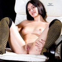Spread Eagle - Shaved, Shaved, Small Tits, Brunette
