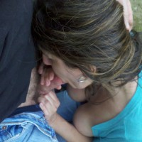 Blowing Me in The Park - Blowjob, Brunette, Outdoors