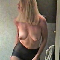 Medium tits of my girlfriend - bb