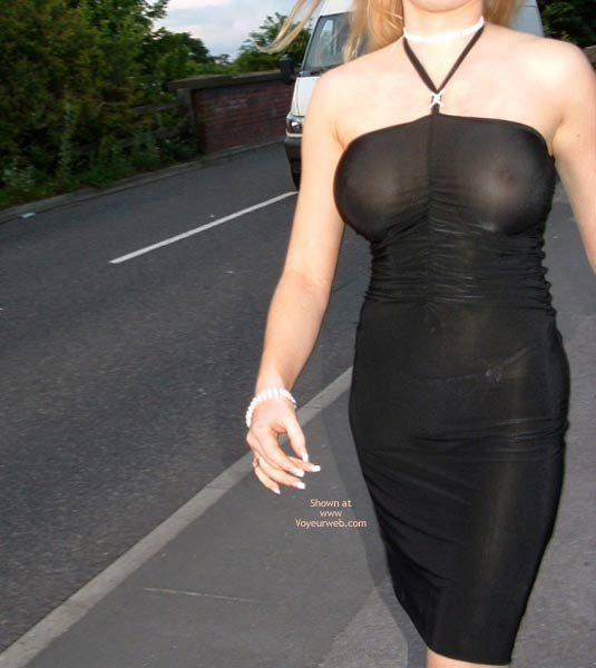 Pic #2 - Public Flashing In Very Revealing  Dress