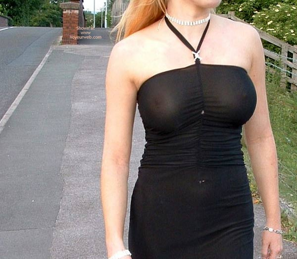 Pic #3 - Public Flashing In Very Revealing  Dress