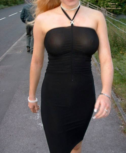 Pic #4 - Public Flashing In Very Revealing  Dress