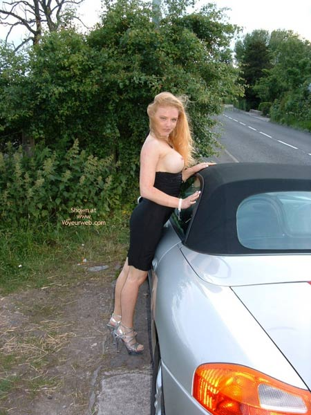 Pic #7 - Public Flashing In Very Revealing  Dress