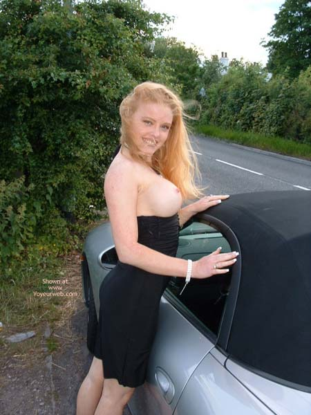 Pic #9 - Public Flashing In Very Revealing  Dress