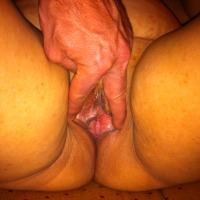 My wife's ass - pussy spread