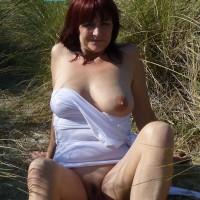 Outdoor Striptease - Beach, Striptease, Mature