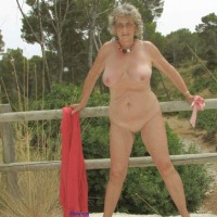 Jo On The Road Through The Woods - Big Tits, Mature