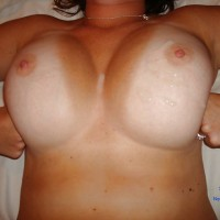Jennifer With Cum On Her Tits - Big Tits