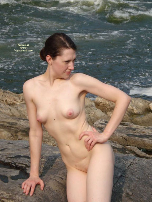 Pic #1 - Nude In Nature - Brunette Hair, Nude Outdoors, Shaved Pussy, Naked Girl, Nude Amateur , Nude On A River Rock, Outside By A River, Outdoor Frontal Nude, Puffy Pink Nipples, Hand On Hip, Total Naked, Sea Side, Big Nipples