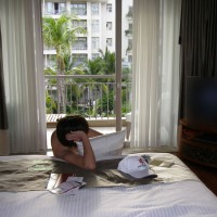 Hot-cat at Hotel Room
