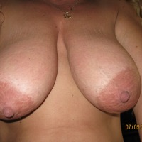 Extremely large tits of my wife - The wife