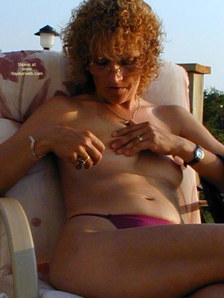 Pic #1 - *Ty  Nipple And Pussy Play Outside