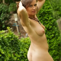 VanessaB - Brunette Hair, Nude Outdoors , I Thought I Might Have Lunch Outside But, Even Though It Was Slightly Overcast, It Was Soooo Hot.  Stripping Off Helped, But Not For Long.  