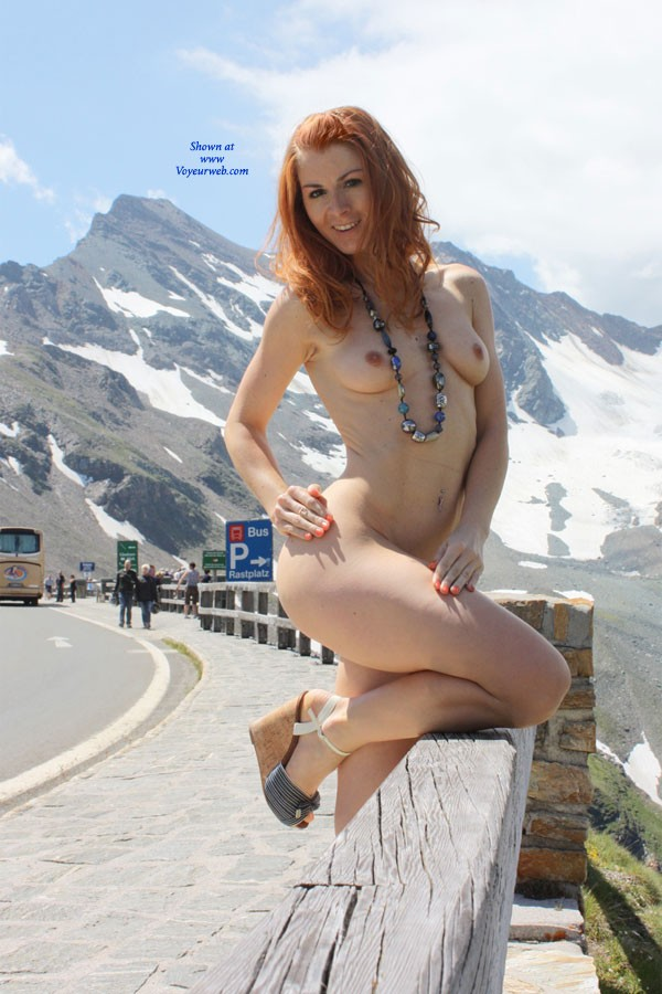 Vienna - Up Where We Belong - Exposed In Public, Nude In Public, Redhead, Wife/wives , Dear Voyeurwebbers
