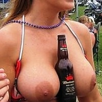 Large tits of my ex-girlfriend - Random Chick @ Sturgis