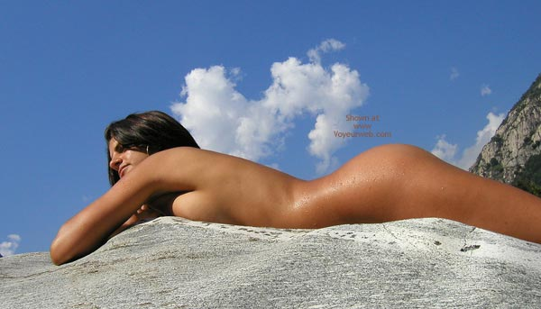 Pic #1 - Nude On A Rock - Black Hair, Nude Outdoors , Nude On A Rock, Lying Flat On On A Rock, Outdoors, Black Hair, Lying On Rock, Nude Outdoors, Nipples On The Rocks