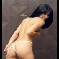 Deep Dark Eyes - Black Hair, Thong