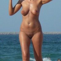 Big Ones at Nude Beach - Beach, Big Tits, Mature