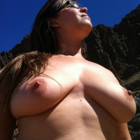 Very large tits of a co-worker - Laura