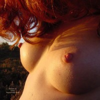 Nipple Shot - Perky Tits, Red Hair