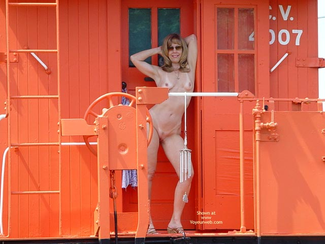 Pic #1 - Fully Nude  - Full Nude, Nude Outdoors, Standing, Tan Lines , Fully Nude , Outdoors, Tanlines, Standing, Naked On Caboose