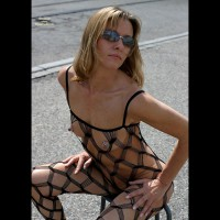 Sexy Bodystocking In Public - Sunglasses