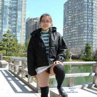 Cold Day in The Park - Asian, Public Exhibitionist, Public Place, Bush Or Hairy