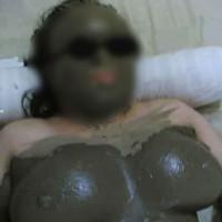 Wife Getting A Mud Massage