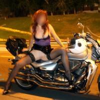 Sexy Biker - Public Exhibitionist, Public Place