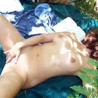 Woman Having A Picnic Masturbating