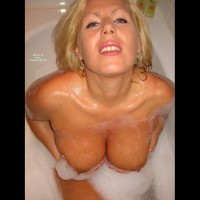 Blonde Bathing - Blonde Hair, Blue Eyes